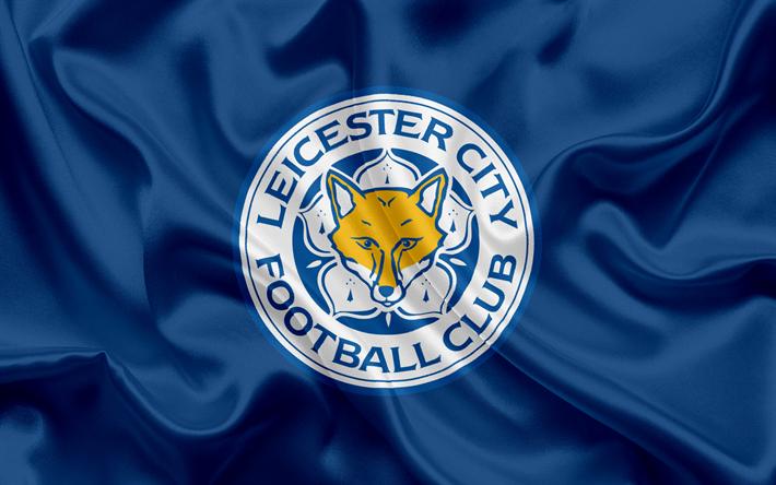 Lataa kuva Leicester City, Football Club, Premier League, jalkapallo, Leicester, UK, Englanti, lippu, tunnus, Leicester City-logo, Englannin football club