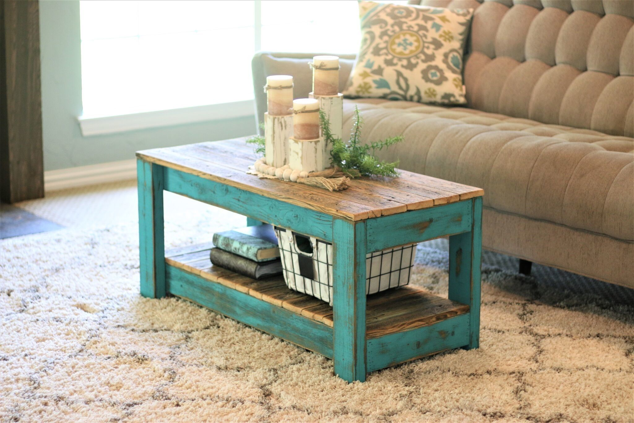 Home In 2020 Teal Coffee Tables Distressed Coffee Table Coffee