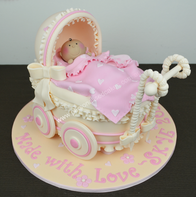baby pram cake d shower custom cakespng more at recipins, Baby shower invitation