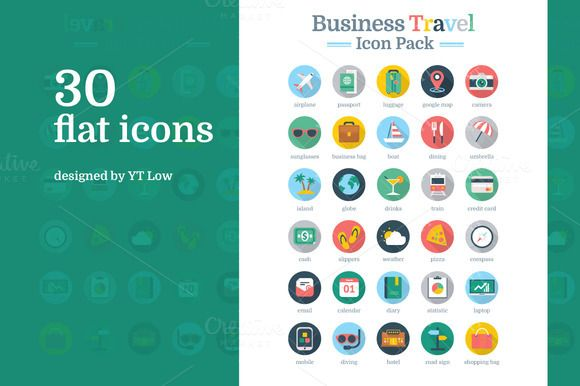 Check Out Business Travel Icon Pack By YT Design On Creative Market
