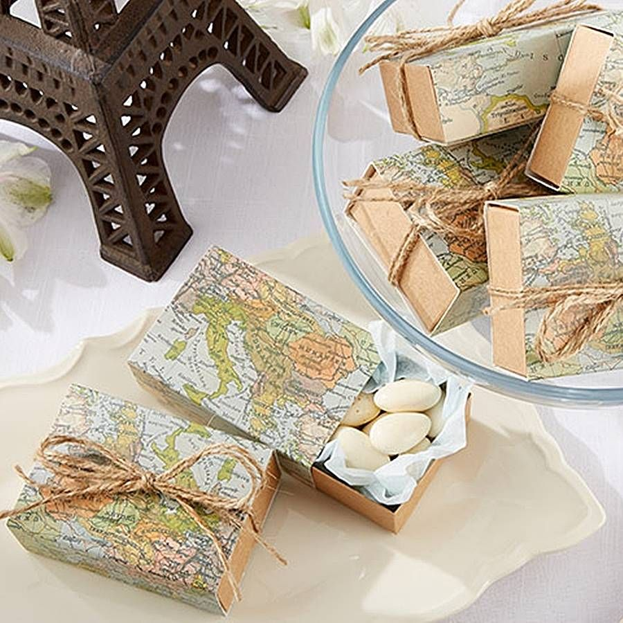 Map Favour Boxes | Favors, Wedding and Wedding shopping
