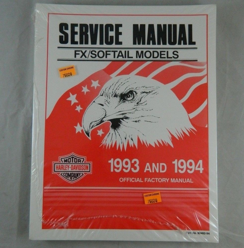Harley Davidson Official Factory Service Shop Manual 1993