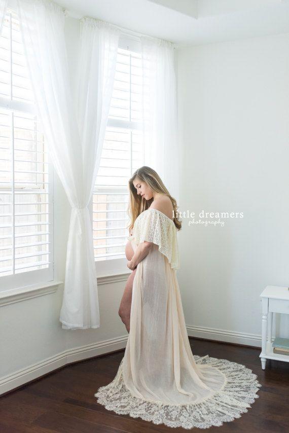 073be45039d23 MATERNITY CROP TOP maxi skirt set: cream, photo shoot, prop, lace ...