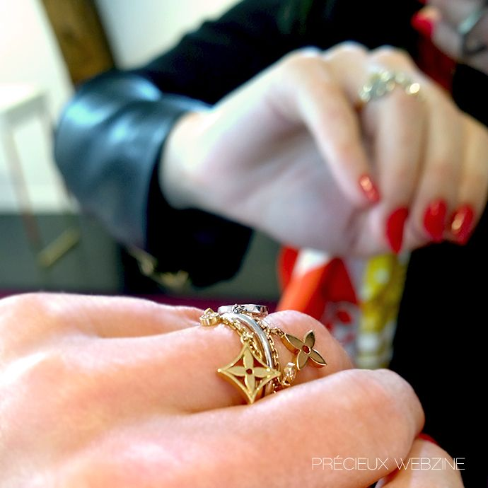Lydia Courteille Jewellery New Sweet And Sour Collection: Ring Idylle, Louis Vuitton Joaillerie #Monogram #Diamonds