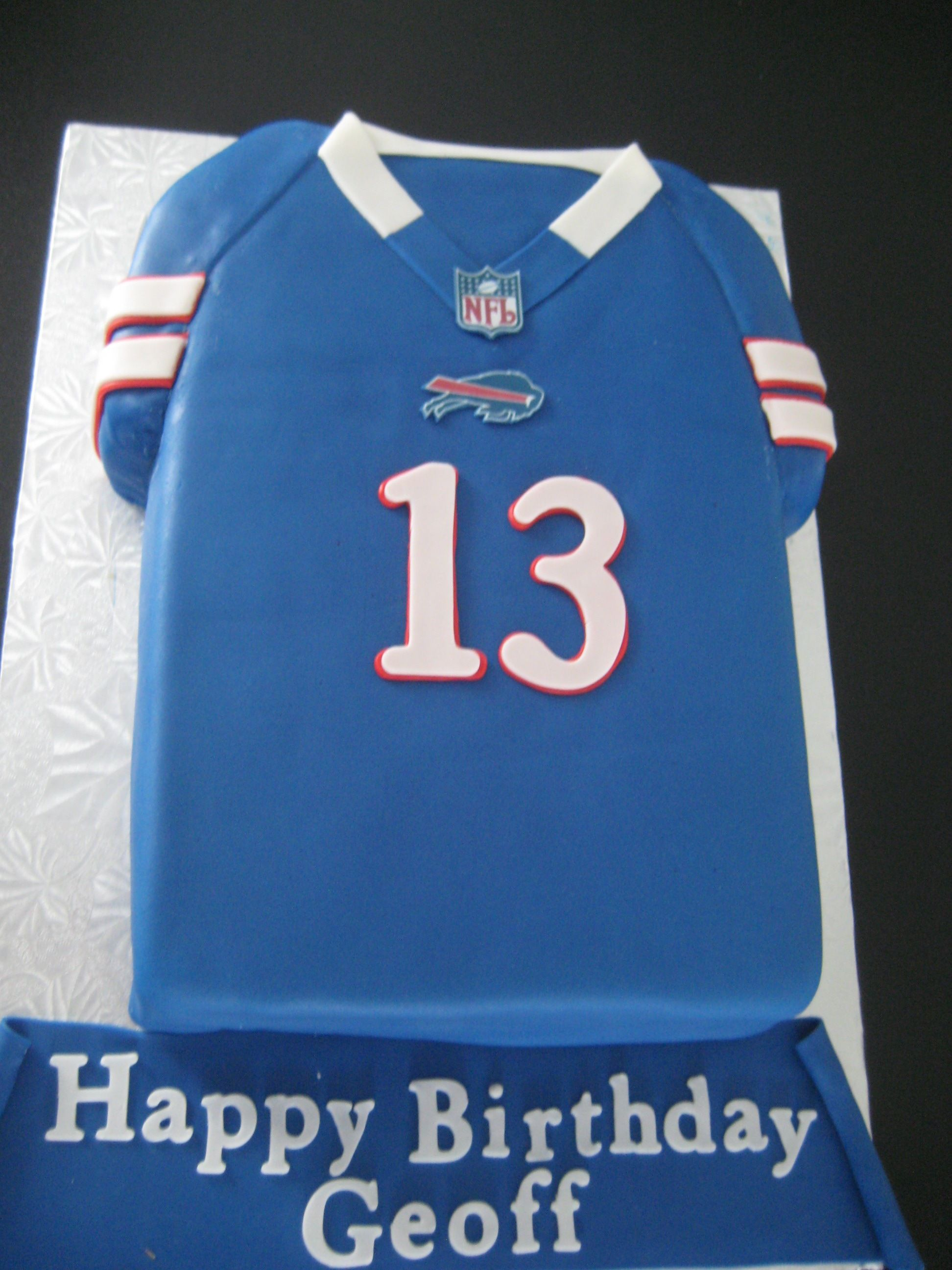 Buffalo Bills Jersey Cake Birthday Cakes Pinterest Buffalo - Buffalo birthday cake