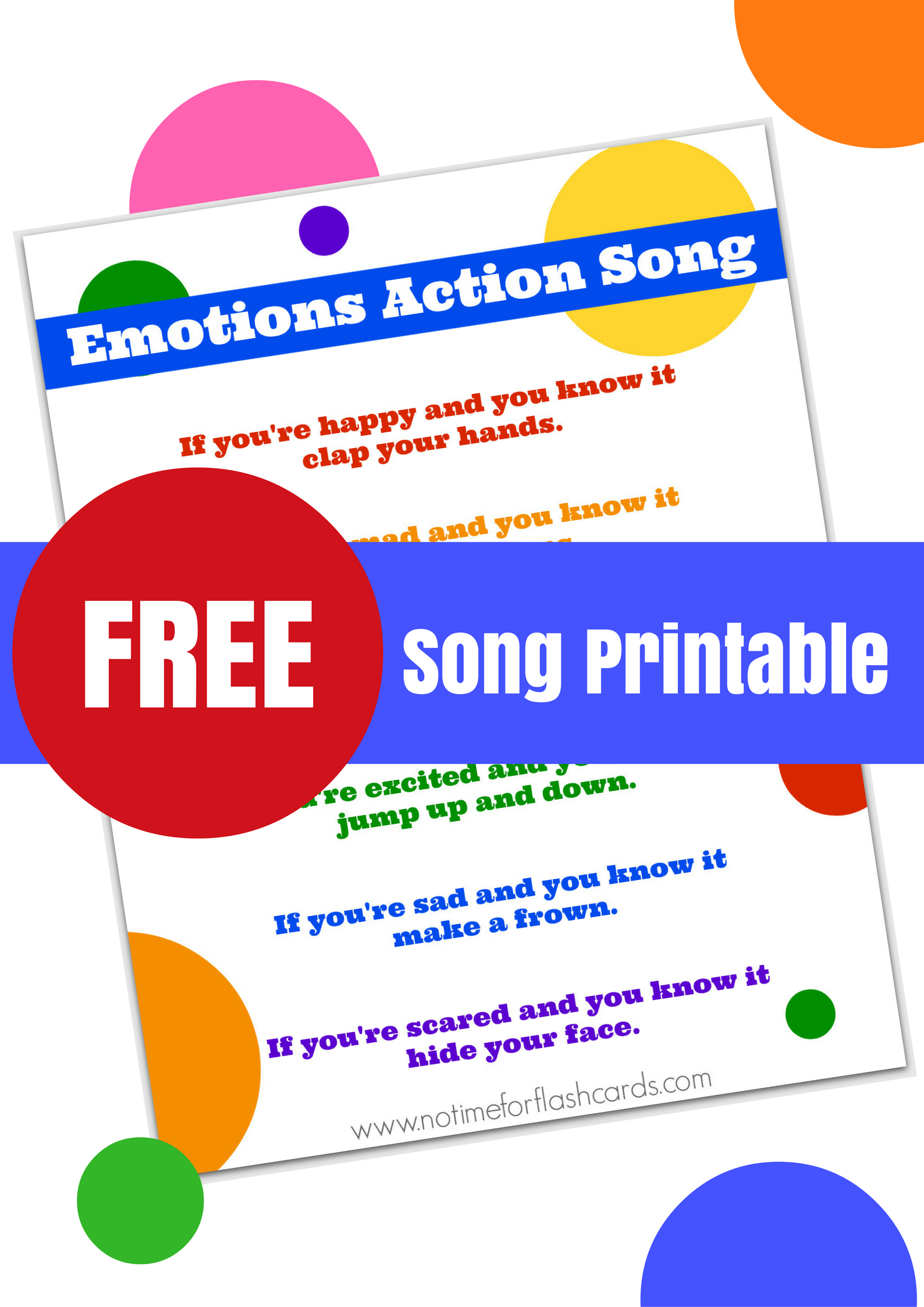 Emotions Song For Preschool With Free Lyrics Printable