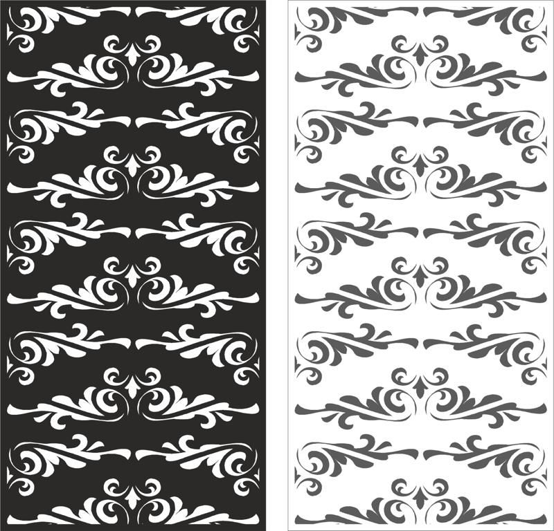 Laser cut floral ornament pattern vector Free Vector cdr Download