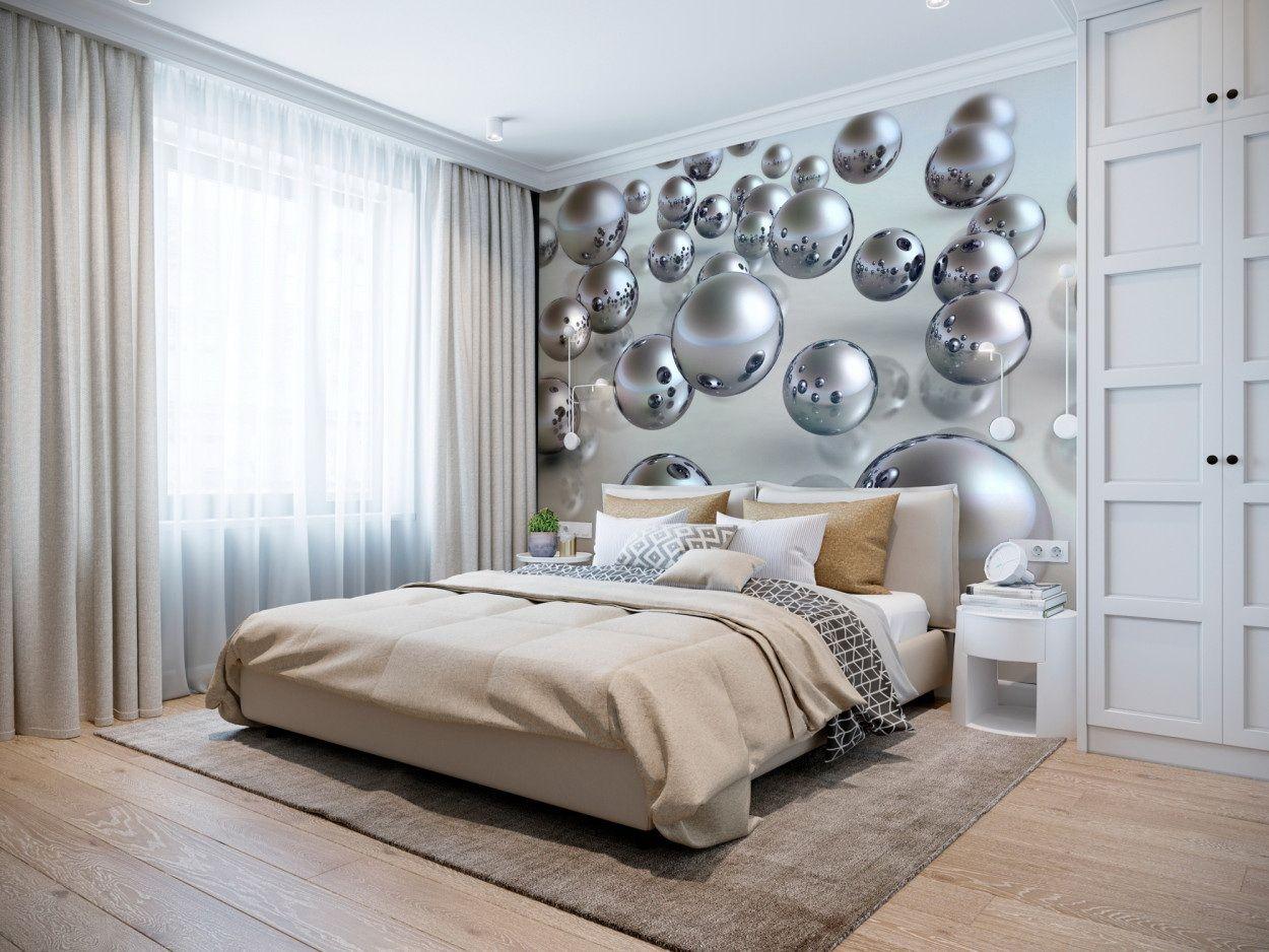 фотографии на стенах в интерьере спальни помогает