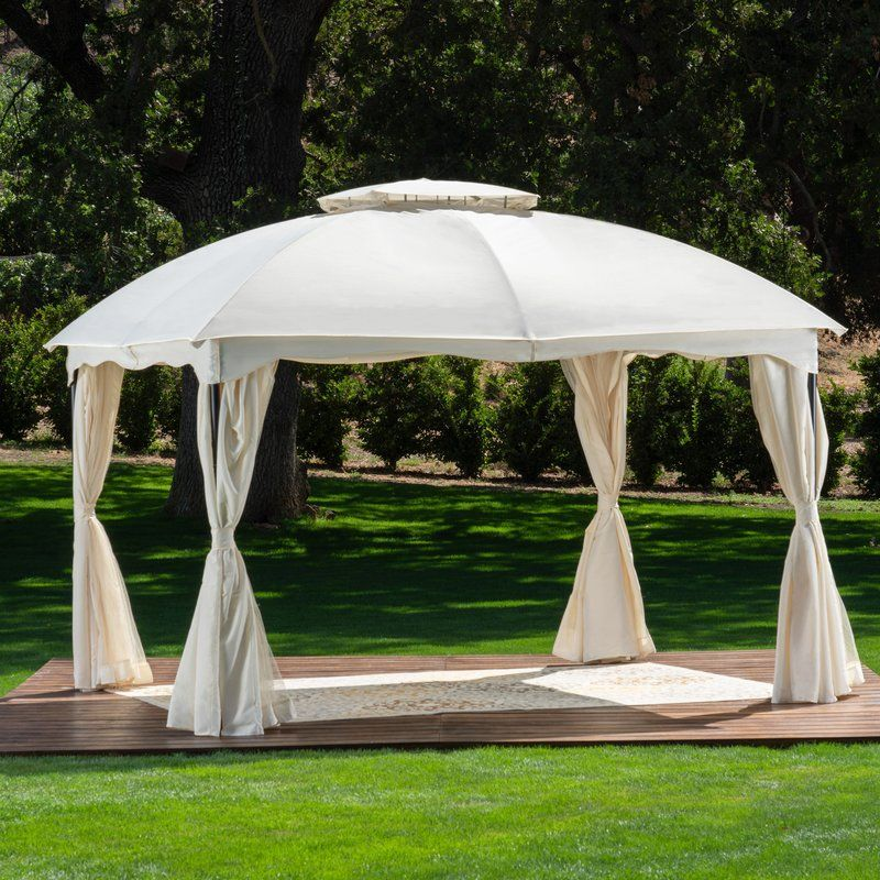 Bannister Outdoor 12 Ft W X 10 Ft D Steel Patio Gazebo Patio Gazebo Outdoor Gazebos Gazebo