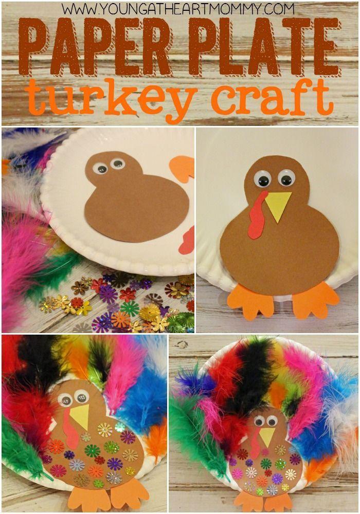 Paper Plate Turkey Craft #thanksgivingcrafts