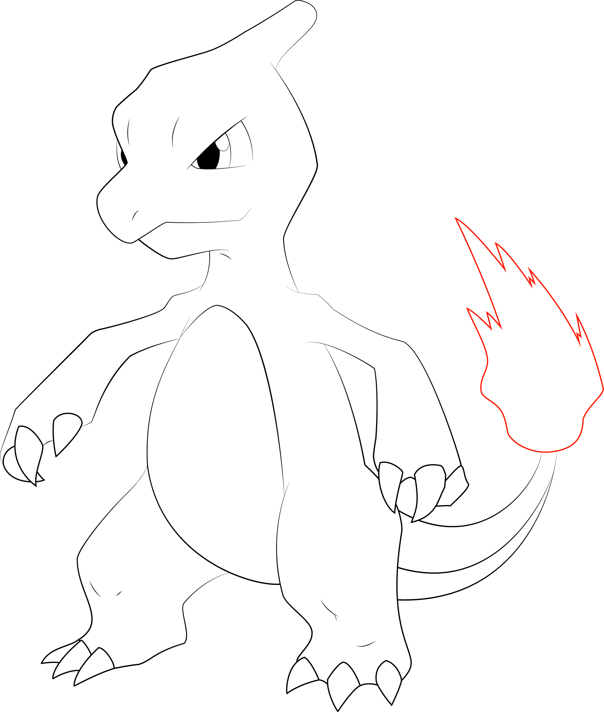 Pokemon Ausmalbilder Bisaflor : Charmeleon Line Art By Alcadeas1 Lineart Pokemon Detailed