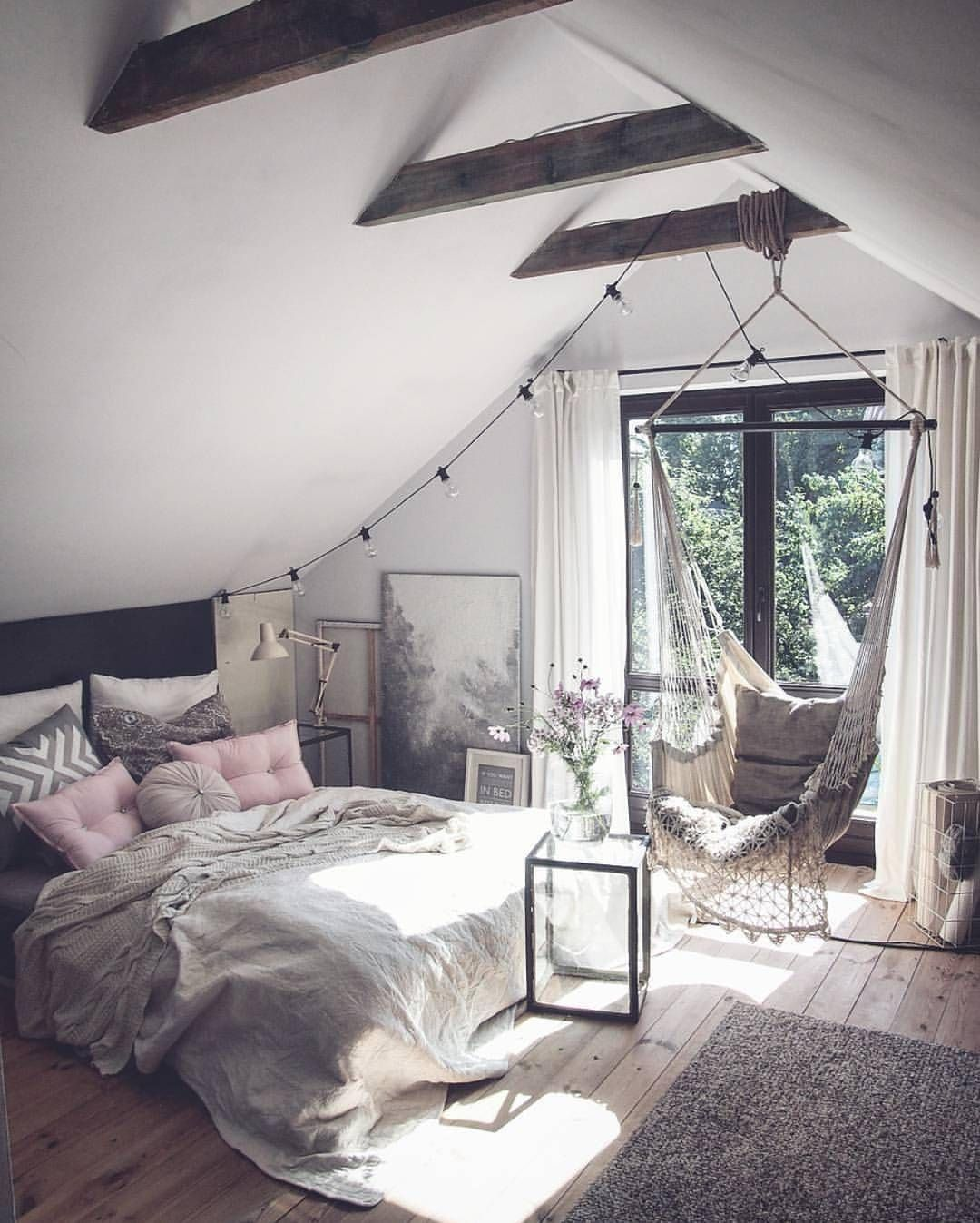 Blush and grey style bedroom.    See this Instagram photo by @interior4all • 9,969 likes