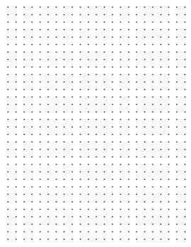 Dotted Grid Paper Printable Bullet Dot Journal Paper Bujo