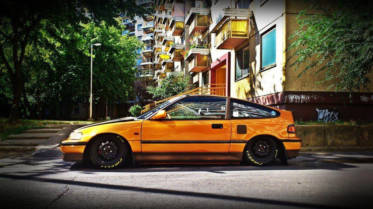 yellow crx [ 1280 x 720 Pixel ]