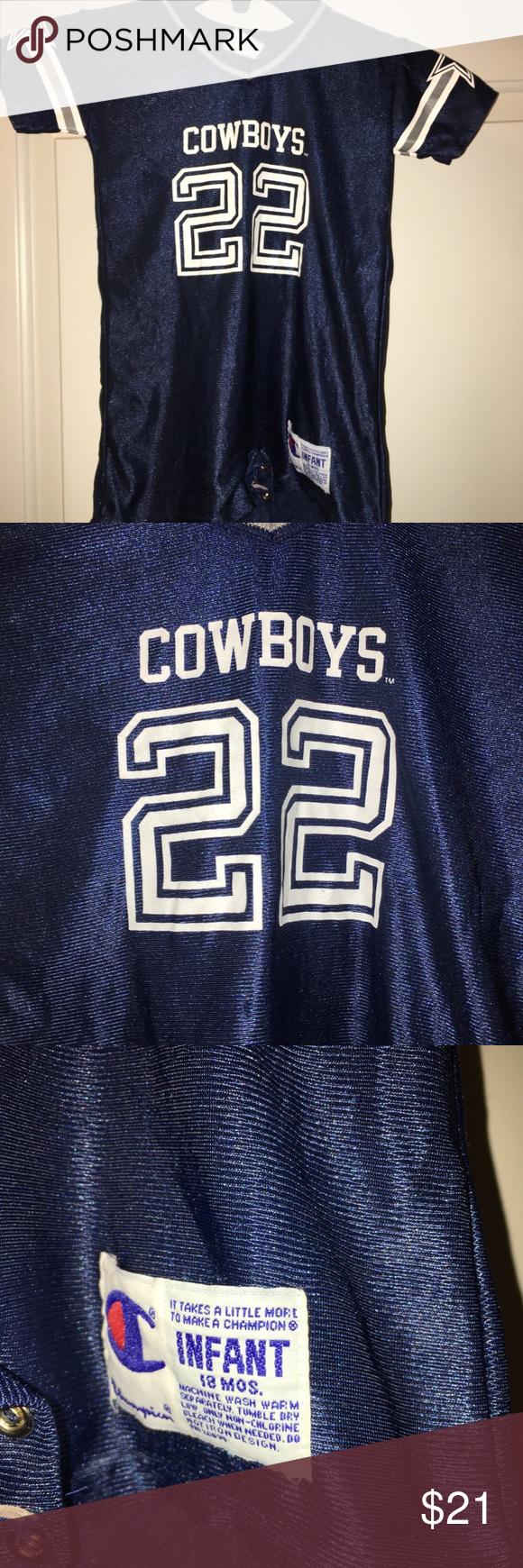 0a7b86b7d43 ... Dallas Cowboys Emmitt Smith romper 18M ...
