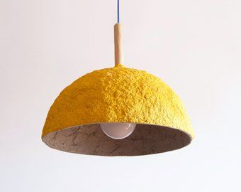 Eco Friendly Paper Mache Lamps And Eco Music Bags By Crearedesign Industrial Lamp Shade Lamp Modern Pendant Light