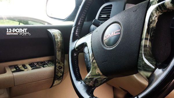 An Interior Camo Wrap Brings The Outside In Camo Truck Car Wrap