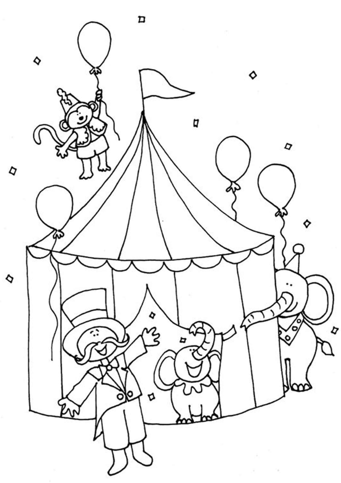 Free Easy To Print Circus Coloring Pages In 2021 Circus Theme Crafts Coloring Pages Circus Crafts