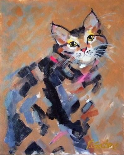 """Daily Paintworks - """"Stripes & Strokes"""" by Pamela Gatens"""