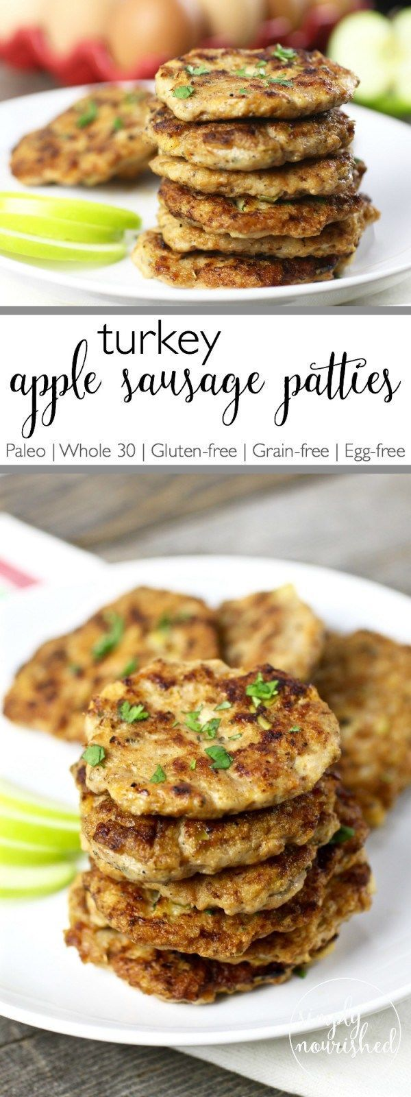 Turkey Apple Sausage Patties   Recipe   Protein, Eggs and Apple ...