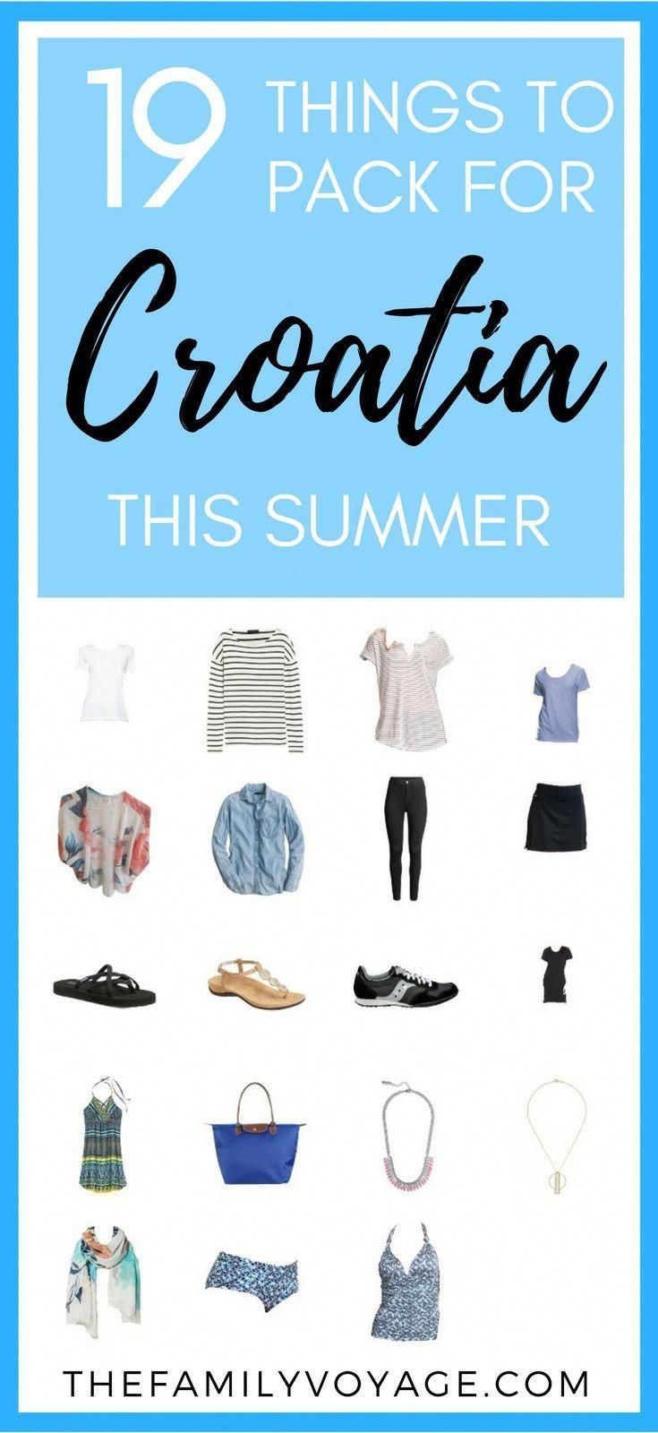 Summer Travel Capsule Wardrobe: What to Pack for Croatia in June #travelwardrobesummer