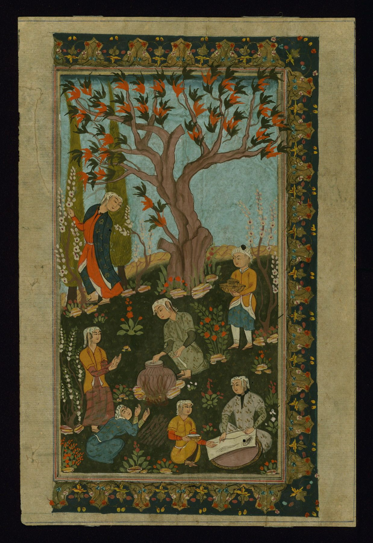 All sizes | Single leaf of an outdoor scene in the Safavid style, Outdoor scene in the Safavid style, Walters Manuscript W.812a | Flickr - Photo Sharing!
