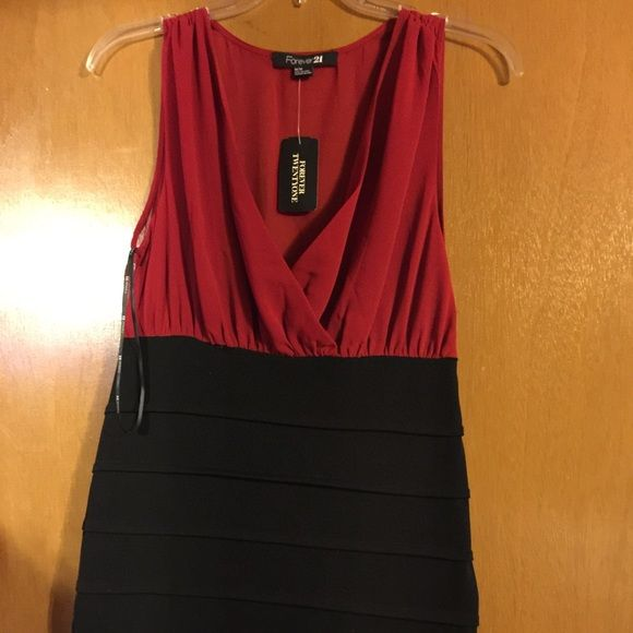 Red and Black dress Never worn Forever 21 Dresses
