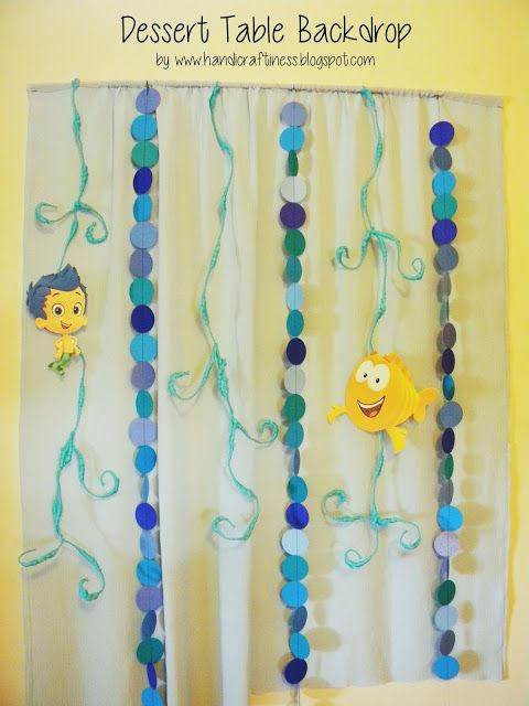 Handicraftiness: Bubble Guppies DIY Party Decor | Party Rockin ...