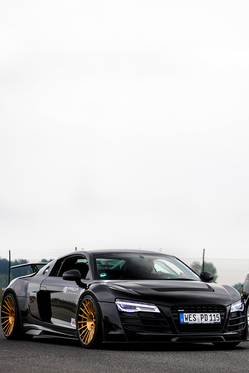 Damn Sexy All Black Audi R8 By Prior With Bronze Rims Audi The