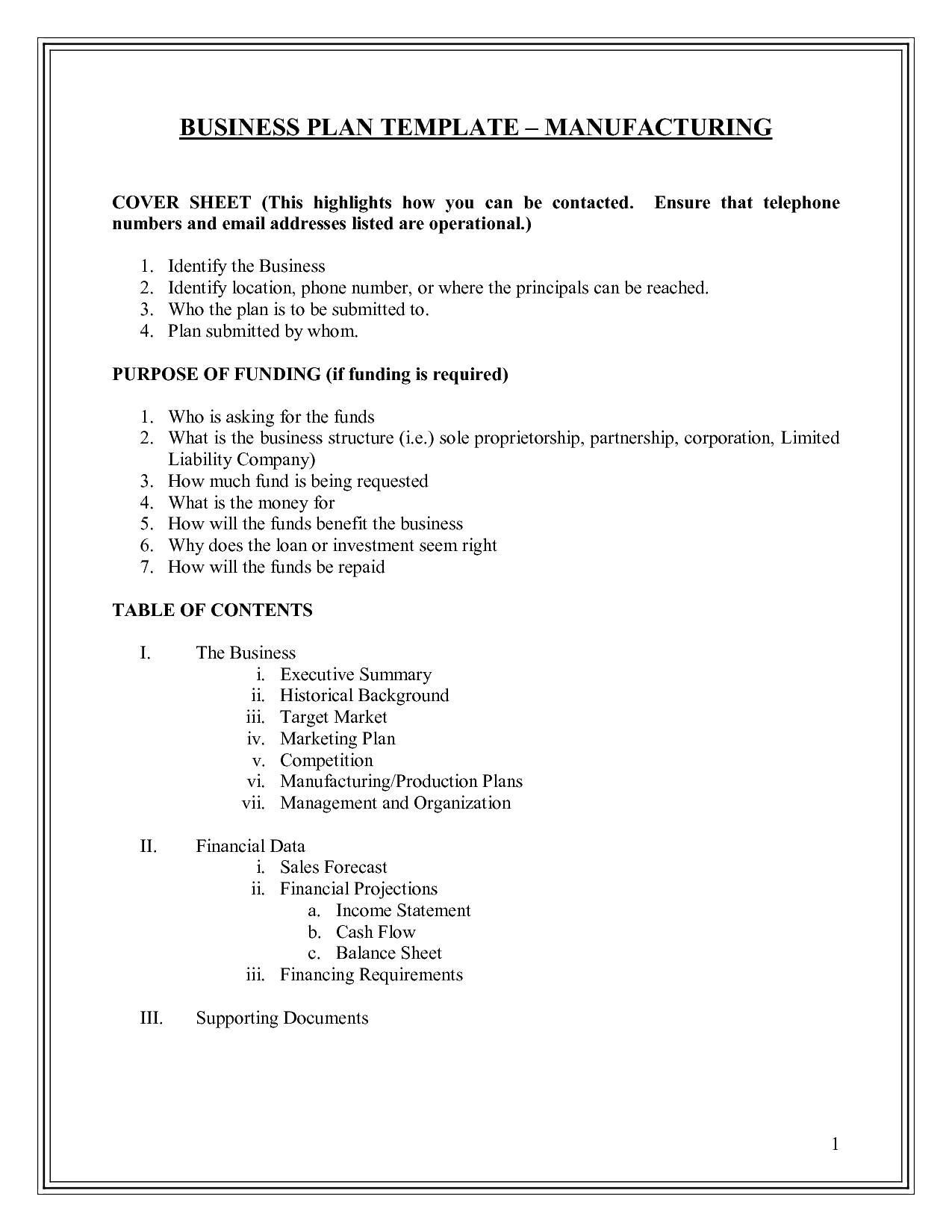 New sole Trader Business Plan Template Business plan