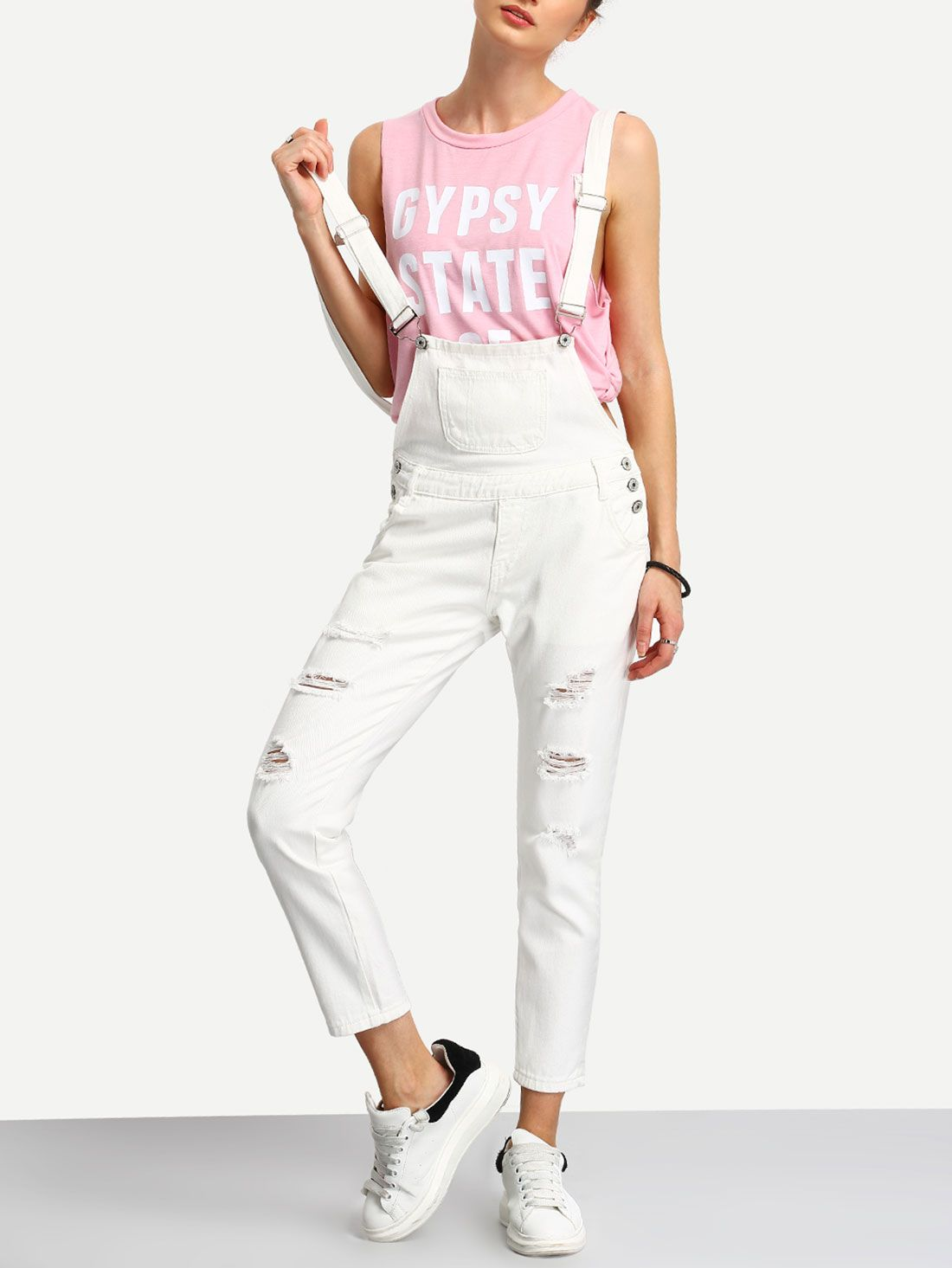 bb6a3c24bfc4 White+Straps+Ripped+Denim+Jumpsuit+21.99