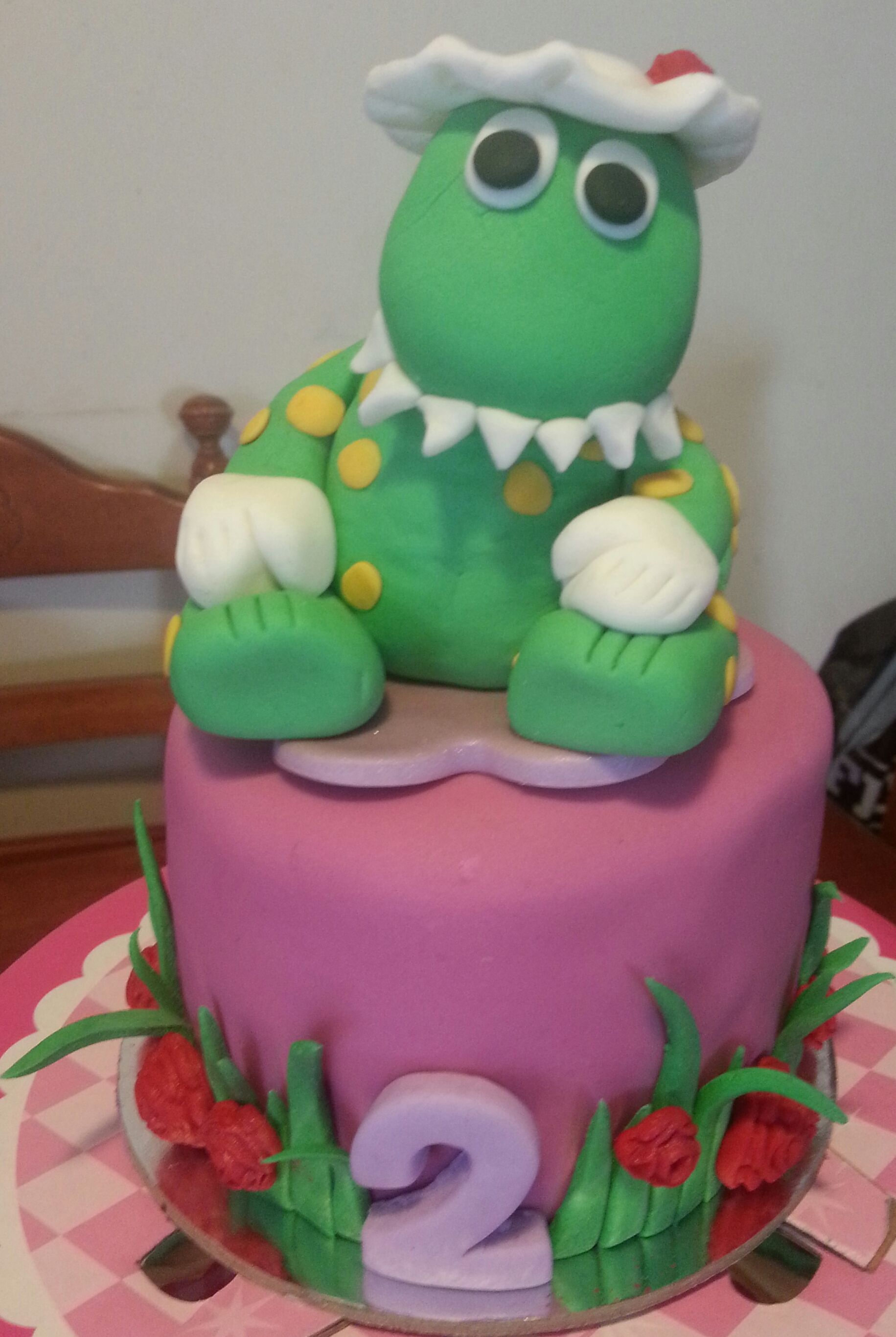 Dorothy The Dinosaur Small Cake And Topper Www Facebook Com Terezia Annand Dinosaur Cake Cake Small Cake