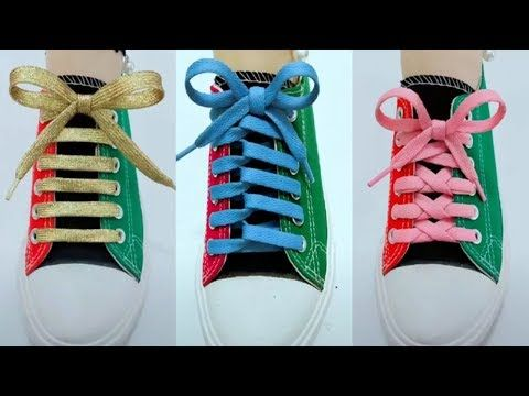 cb93ddcebfe3 1028) LACE SHOES - 25 cool ideas how to tie shoe laces - YouTube ...