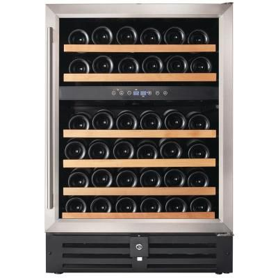 EdgeStar CWR532SZDUAL 47 Inch Wide 106 Bottle Built-In Side-by-Side Wine Cooler with LED Lighting