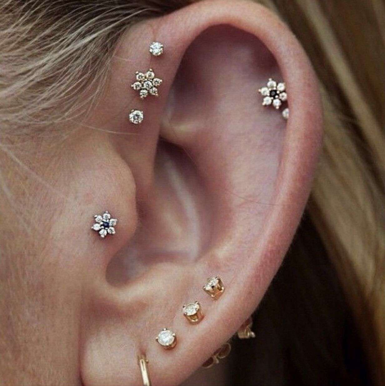 Earring piercing ideas  bethaneegar  Ear piercings  Pinterest  Piercing and Piercing