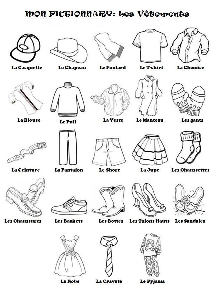 les+vetements.jpg (734×994)   Fle les vêtements   Pinterest