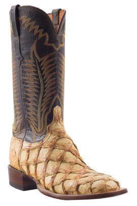 a3a3414b9e4 Lucchese Chocolate Pirarucu Boot | Men's Exotic Boots | Boots, Men ...