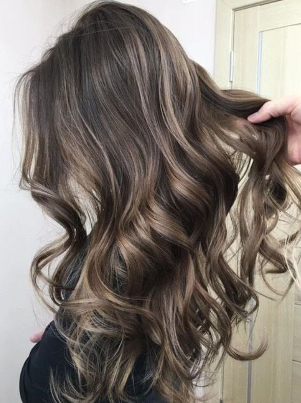 Brunette Base With Golden Sunkissed Bayalage Hair