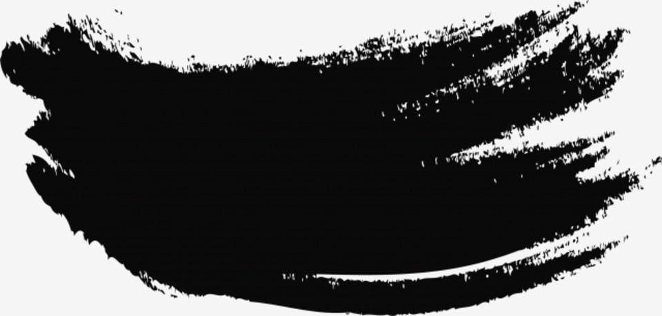 Pincelada preta png