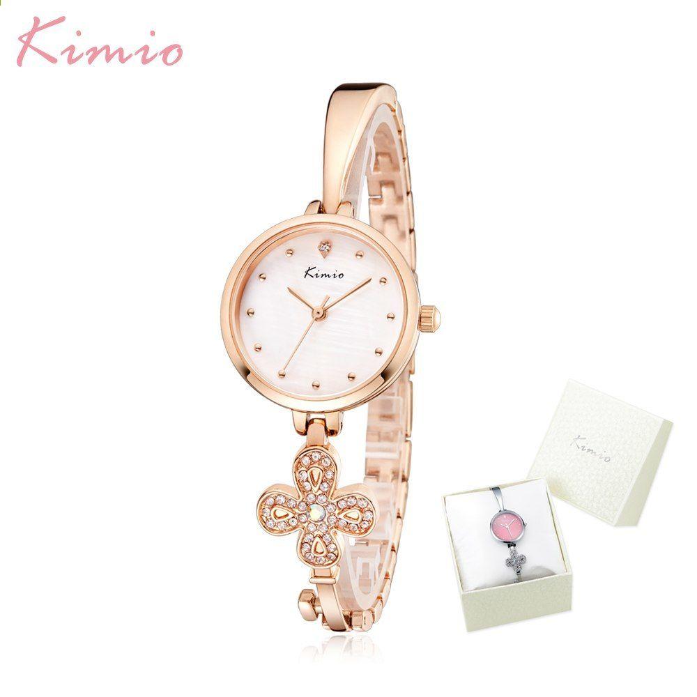 Kimio Luxusní značkové dámské hodinky Klíčový design náramek Hodiny Šaty  Quartz Dámské náramkové hodinky Montre Femme Dárky pro ženy ca64bb8f89