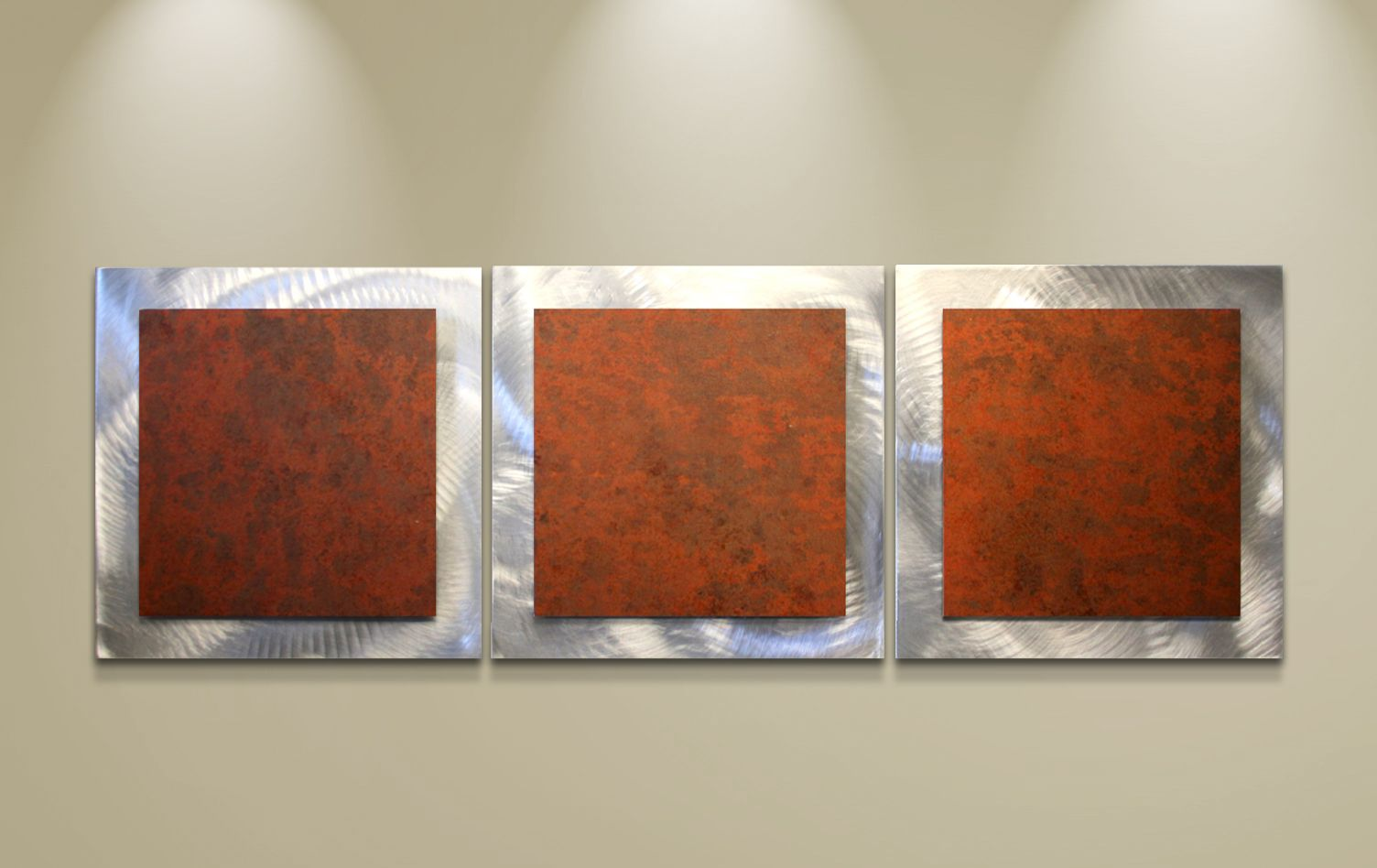 Metal workings for sale multi panel unique wall art rusty essence 38x12 in contemporary sculpture orange rust wall painting artsyhome