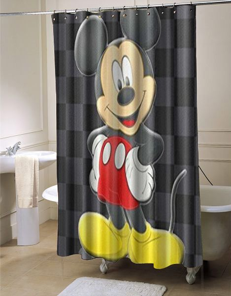Disney Minnie Mickey Mouse Shower Curtain With Images Mickey Mouse Shower Curtain Mickey Mouse Bathroom Mickey Mouse Decorations