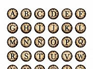 791. Alphabet Steampunk 1 inch Circles