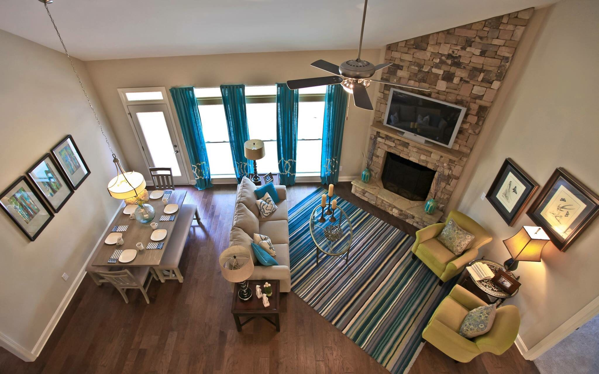 Check out this amazing view from the loft inside model home at bakers farm in braselton also living dream interior pinterest interiors rh