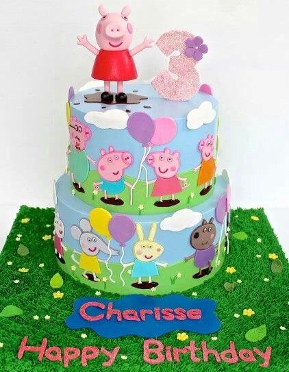 Brilliant Peppa Pig Cake With Images Pig Birthday Cakes Peppa Pig Cake Funny Birthday Cards Online Hendilapandamsfinfo