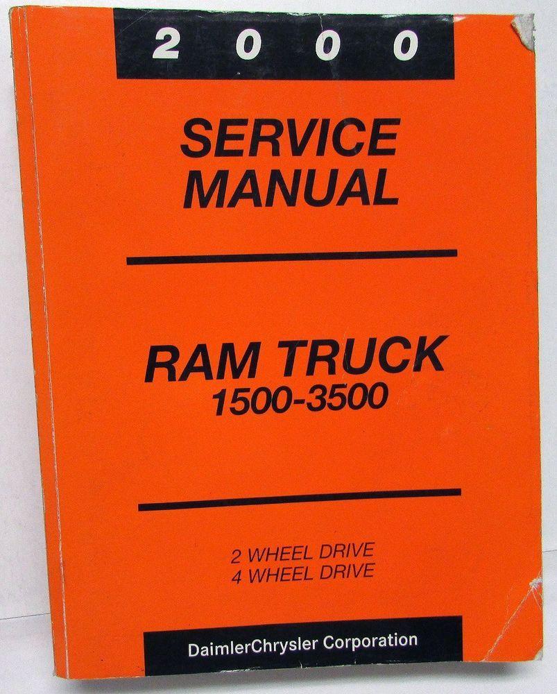 2000 Dodge Ram Truck Dealer Service Manual 1500 2500 3500 Pickup Diesel Gas