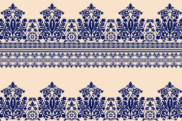 2 Damask Seamless Patterns by Sunny_Lion on @creativemarket