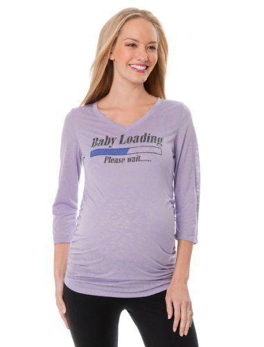 41d0af0f0c Motherhood Maternity: Baby Loading Maternity T Shirt Motherhood Maternity.  $26.98