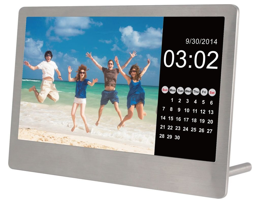 7 Quot Digital Photo Frame Sylvania Stainless Steel Ultra