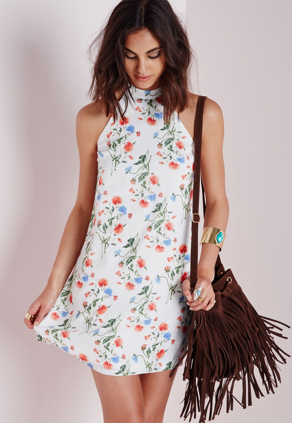 High Neck Swing Dress